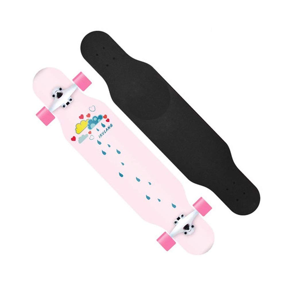 SGLI ロングボード四輪スクーターの十代の男の子と女の子のスケートボード13×107 cm スケートボード (Color : A) A