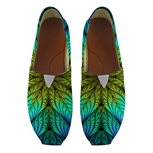 Nopersonality Art Flower Style Ladies Canvas Pumps Flats Slip On Loafers for Lady Girl Size UK3-10 Floral-4 w2kkcCo5