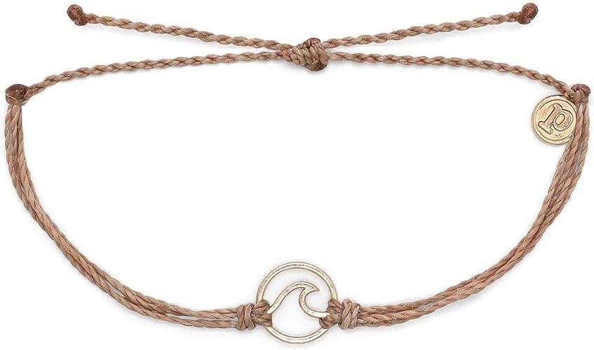 Pura Vida Rose Gold Wave OG Bracelet Plated Charm 100/% Waterproof Adjustable Band