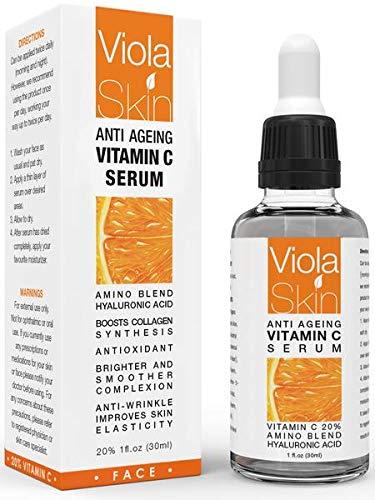 """PREMIUM Vitamin C-Serum für das Gesicht mit Hyaluronsäure-Serum – Klinisch bewiesene Wirkung – Das beste Anti-Agin & Anti-Falten-Serum – Unsere Kunden nennen es """"Ein Gesichtslifting ohne Nadeln"""" 500.0"""