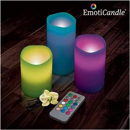 Velas LED EmotiCandle (pack de 3): Amazon.es: Hogar