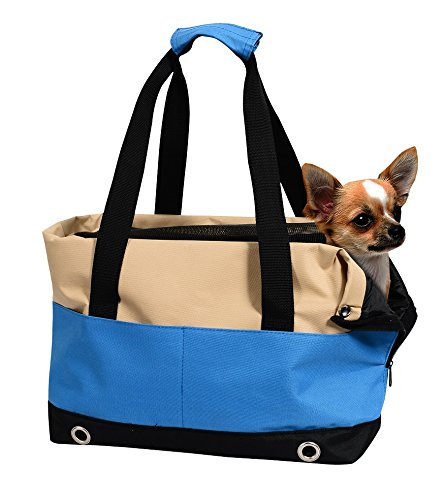 Jespet Portable Dog Tote Bag Purse Handbag for Small Pet Travel & Shopping & Outdoor Carrier (Purse Tote Dog)