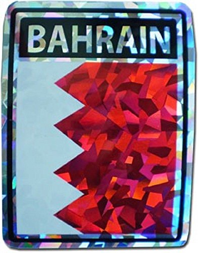 (ALBATROS (6 Pack) Bahrain Country Flag Reflective Decal Bumper Sticker for Home and Parades, Official Party, All Weather Indoors Outdoors)