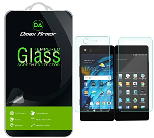 Dmax Armor for ZTE Axon M [Tempered Glass] Screen Protector with Lifetime Replacement