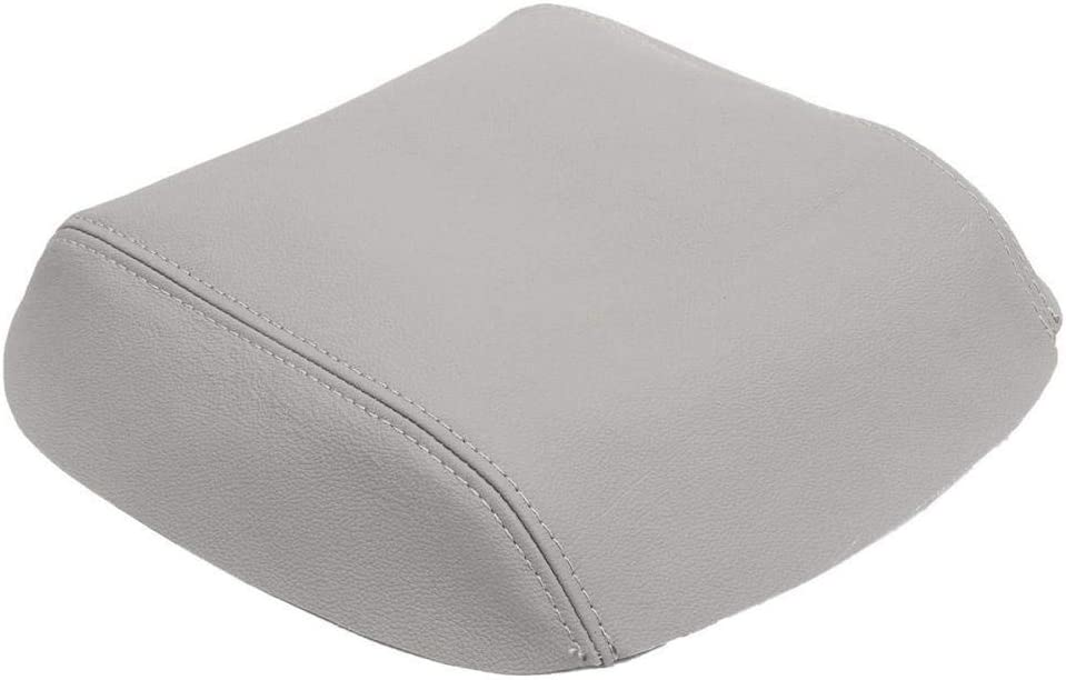 Car Real Leather Armrest Cover Center Console Lid Armrest Cover Pad for Honda//Pilot 2009 2010 2011 2012 2013 Black//Grey//Beige Gray