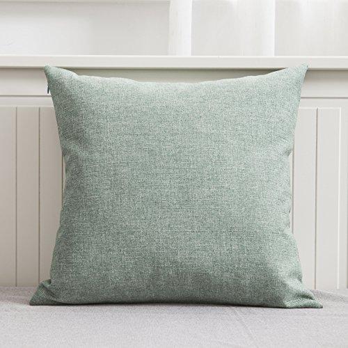 Light Green Linen (Home Brilliant Decorative Linen Throw Pillow Cover Cushion Cover for Outdoor Patio, Slub Linen, 18