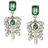 Stone Art Deco Emerald Earrings