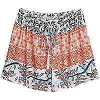 Women Casual Boho High Waisted Summer Beach Shorts Hot Pants Yoga Mini Shorts