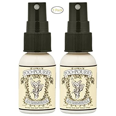Poo-Pourri Before-You-Go Toilet Spray 1-Ounce Bottle, Original - 2 Packs x 1 oz.
