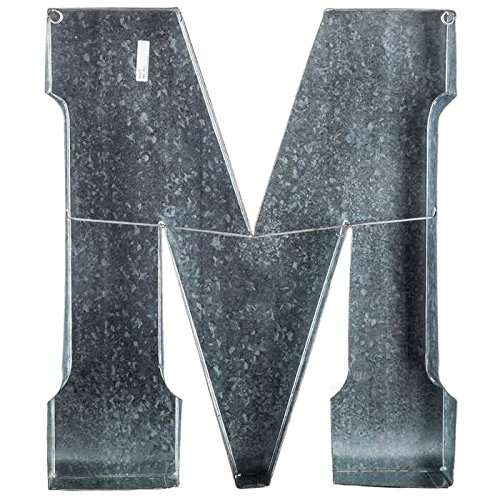 Huge 20'' Metal Alphabet Wall Décor Letter M Rusted Edge Galvanized Metal by Generic (Image #1)