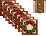 elegant party themes Christmas Theme Holiday Party Elegant Wreath Paper Lunch Napkins - 50 Count