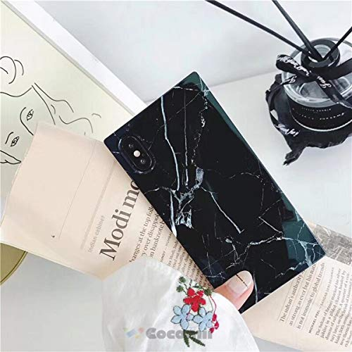 - Cocomii Trunk Marble Armor iPhone Xs Max Case New [Square Granite] Ultra HD Vivid Pattern Never Fade Anti-Scratch Shockproof Bumper [Slim] Rectangle Box Cover for Apple iPhone Xs Max (TM.Black)
