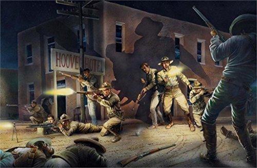 (Twenty-threeMexico Clash Fight Rebels Soldiers 24X36 Inch Poster Print 36)