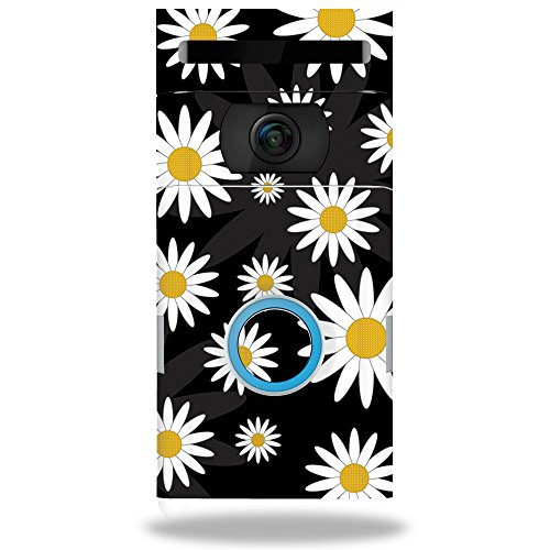 MightySkins Skin Compatible with Ring Doorbell 2 - Daisies | Protective, Durable, and Unique Vinyl Decal wrap Cover | Easy to Apply, Remove, and Change Styles | Made in The USA