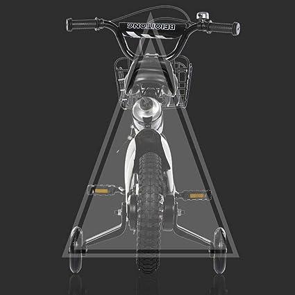 BMX 12 Pouces mod/èle 2019 1-1 V/élo Enfant 12 Pouces pour gar/çons et Filles en /à partir de 2 Ans avec Freins V-Brake et r/étrop/édalage