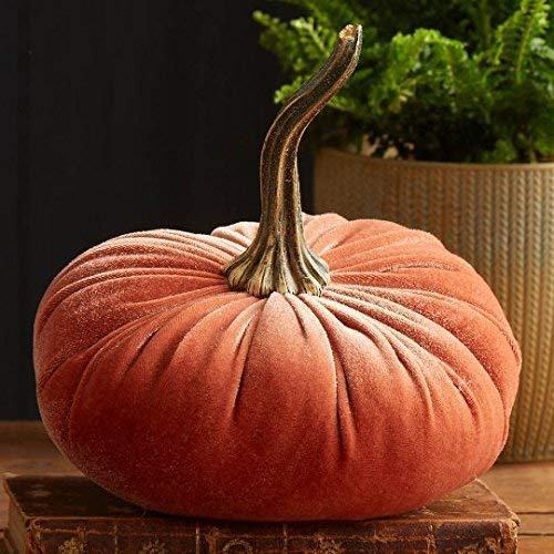 Large Velvet Pumpkin Harvest, Handmade Home Decor, Wedding, Holiday Mantle Decor, Centerpiece, Fall, Halloween, Thanksgiving