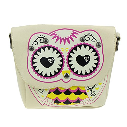 Woman With For Bag Beige 2018 Double For Bag Cheap Mini Print Woman Shoulder Messenger Bags Beach Holiday Women Owl Bags Totes Summer Bags Zipper Euzeo Bag qFxfwtAtv