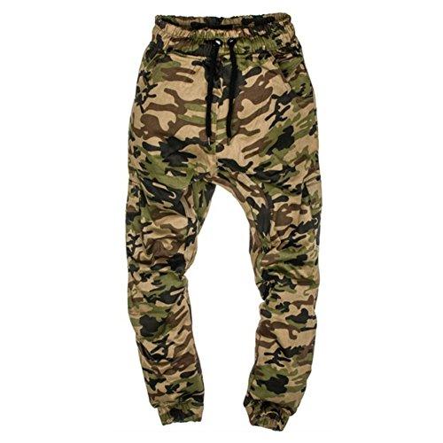Uomo Army Mimetici Jogging Cargo Camicia Yying Pantaloni Green qxwR74gWS