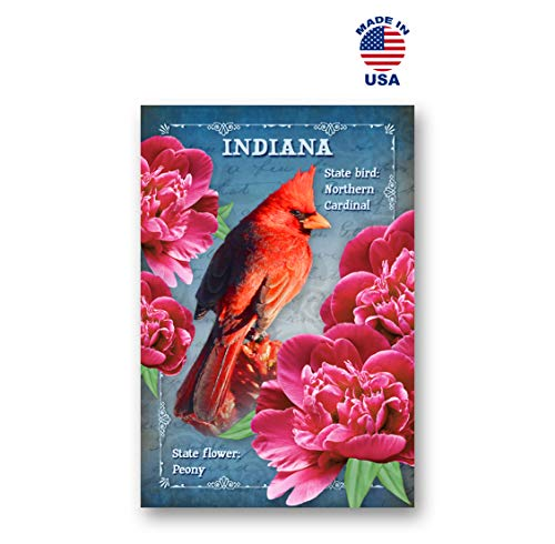 INDIANA BIRD AND FLOWER postcard set of 20 identical postcards. IN state symbols post cards. Made in -