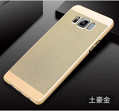 Funda Samsung Galaxy S8,Alta Calidad Ultra Slim Anti-Rasguño y Resistente Huellas Dactilares Totalmente Protectora Caso de Plástico Duro Case,Cuadrícula Disipación de calor Antideslizante Cover(YQ5-7) C