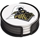 Thirstystone VPRDU-HA17 Stoneware Drink Coaster Set with Holder, Purdue University