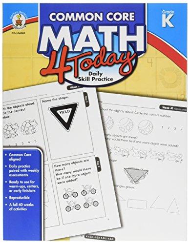 Carson Dellosa Common Core 4 Today Workbook, Math, Kindergarten, 96 Pages (CDP104589)