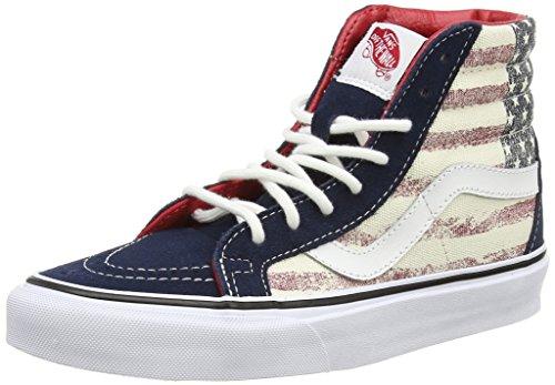 U Blu Dress Sneakers Vans Reissue Leather Sk8 Hi Americana Blues Unisex PxdOwq0