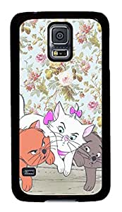Galaxy S5 Case, Customized Protective Samsung Galaxy S5 Hard PC Black Edge - Personalized Cats01 Case Cover