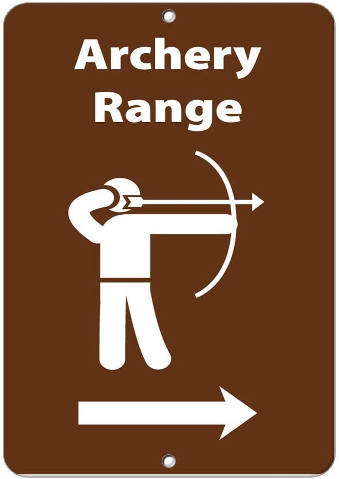Archery Range in Right Activity Sign Park Signs Vinyl Sticker Decal 8