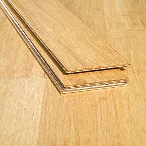 Ambient Bamboo - Bamboo Flooring Sample, Color: Natural 6 FT Lengths, Engineered Click Lock ()