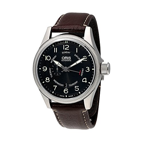 Oris Big Crown Small Seconds Black Dial Rubber Strap Mens Watch (Big Crown Pointer)