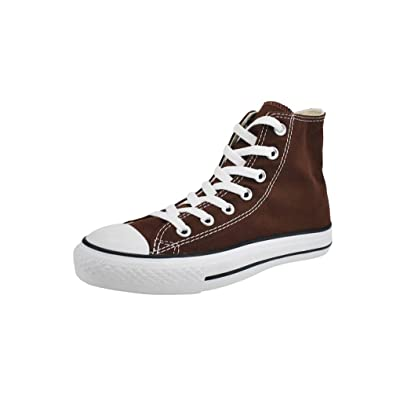1P626 Men/ Women's All Star Hi Chocolate Brown Shoes Canvas Unisex