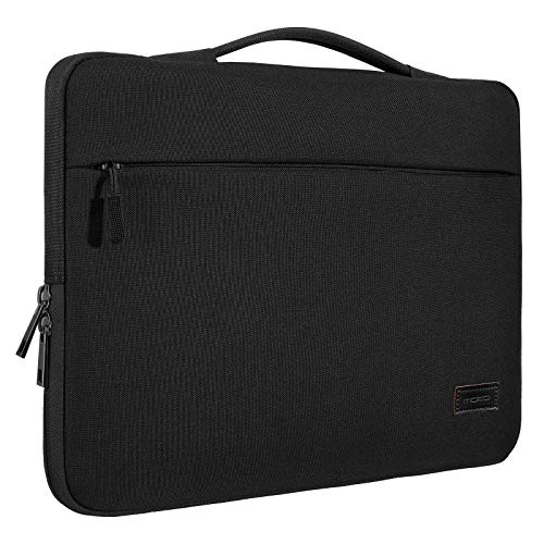 """MoKo 15.6 Inch Laptop Sleeve Case Fits 2019 MacBook Pro 16 inch, MacBook Pro 15.4"""", Surface Book 15 inch, Ultrabook Notebook Carrying Bag for 15.6"""" Dell HP Acer Chromebook, Black"""