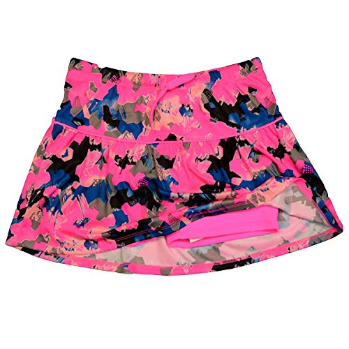 PUMA Girls Athletic Tennis Skort Running Active Gym Mesh Activewear Print ()