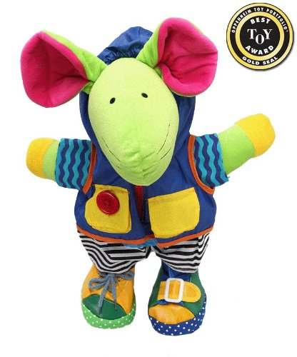 Squeak E Mouse Learn to Dress Doll