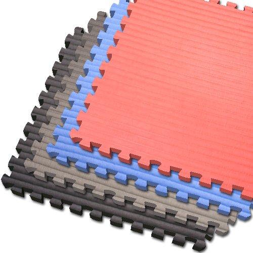 UPC 815014011399, 100 SQFT BLACK Martial Arts (1/2 Inch Thick) We Sell Mats Yoga Pilates Anti-fatige Interlocking EVA Foam Flooring-each Tile 2' x 2', Black, 100 SQFT-25 Tiles