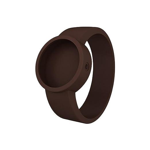Full Spot O Clock - Correa de silicona - Accesorio Unisex L chocolate: Amazon.es: Relojes