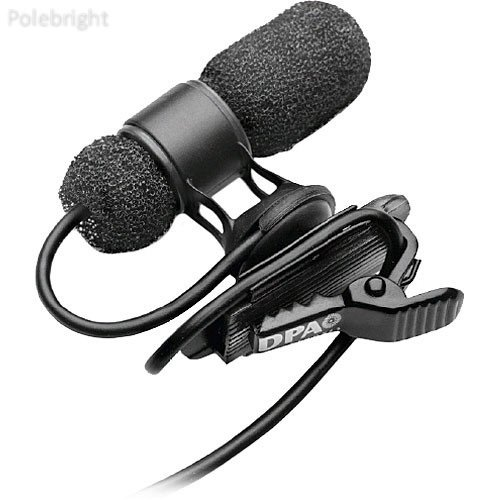 (Microphones d:screet mini 4080 Miniature Cardioid Lavalier Microphone with a Hardwired TA5F Connector for Lectrosonics Wireless Systems (Black) - Polebright update)
