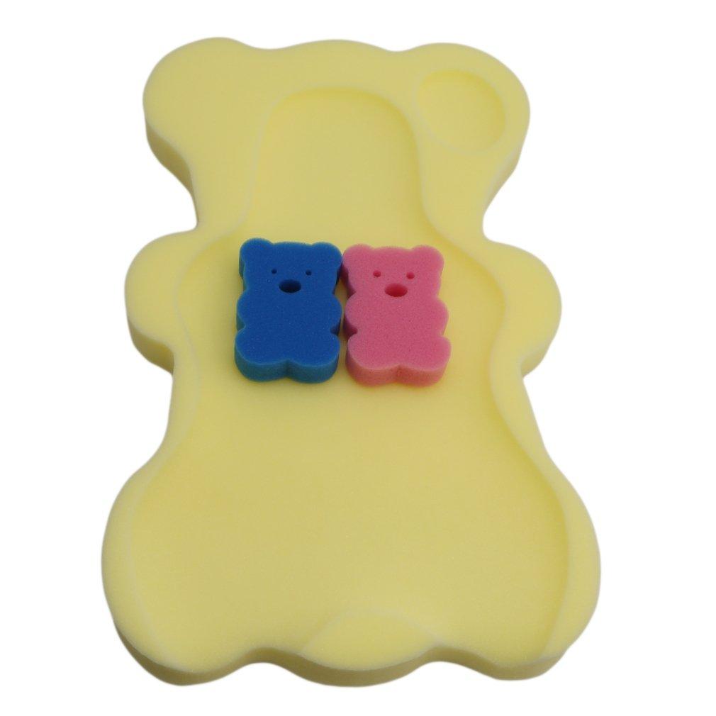 HS Infant Baby Bath Sponge Cushion (Light Yellow)