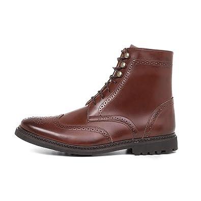 063cbedc Amazon.com | Ahimsa Men's Vegan Wingtip Boot (13 (US)) Cognac | Boots