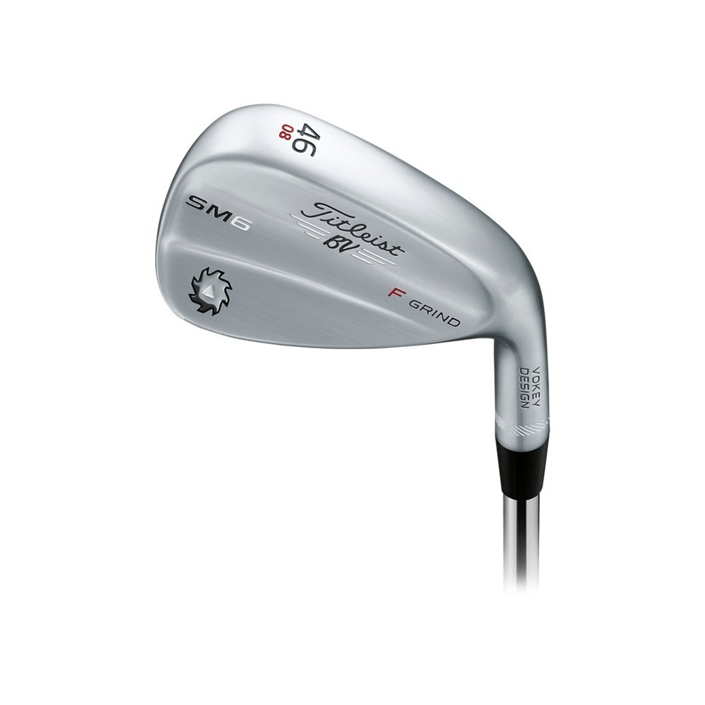 Titleist Vokey SM6 Tour Chrome Wedge Right 46 8 F Grind True Temper Dynamic Gold Wedge by Titleist