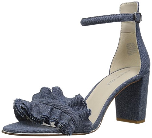性交作る救出Kenneth Cole New York レディース Langley Ankle Strap Sandal with Ruffle Detail on Front Strap