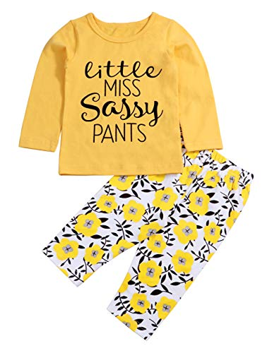 4320f16f8 Toddler Baby Girl Clothes Miss Sassy Print Long Sleeve T-Shirt and ...