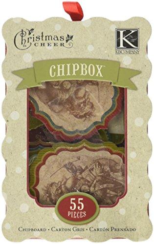 Cheer Chipboard - K & Company Christmas Cheer Chipboard - 68PK/Phrases & Tags