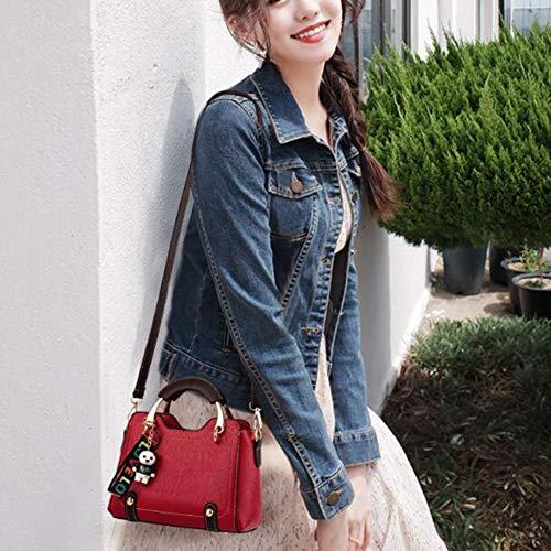 Del Selvaggio Modo Sacchetto Di Bag Borsa Autunno Donne Pink Femminile Coreano Spalla Piccole Portatile Messenger Texture PwqfU1xtA