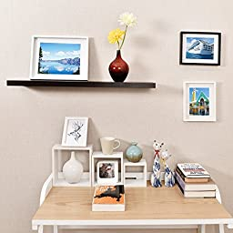 WELLAND Simons Floating Wall Shelf, 36-Inch, Espresso