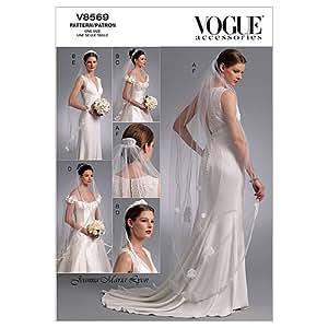 Vogue Patterns V8569 - Patrones de costura para velos de novia (talla única)