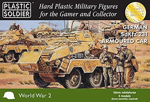 WWII Miniatures - Germany 15mm SdKfz 231 Armored Car
