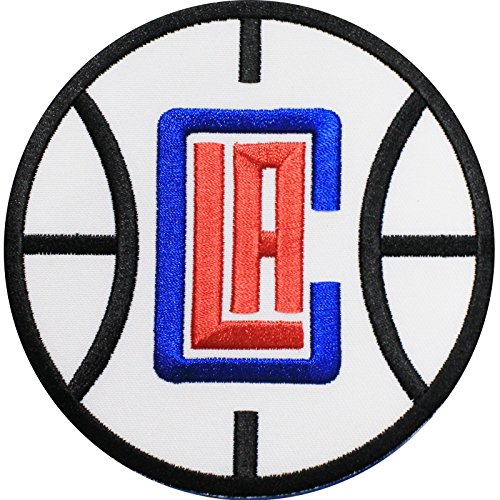 Nba Basketball Sports Patch - Official Los Angeles Clippers Logo Large Sticker Iron On NBA Basketball Patch Emblem