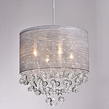 Claxy ecopower lighting metal crystal pendant lighting for Contemporary chandeliers amazon